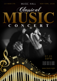 CLASSICAL MUSIC POSTER A4 template
