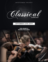 Classical violin concert flyer template