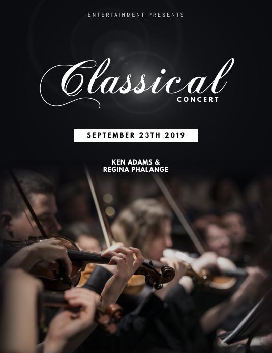 Classical violin concert flyer template