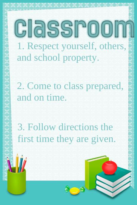 Classroom Rules Template Cartaz