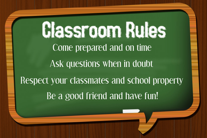 Classroom Rules Template Plakat