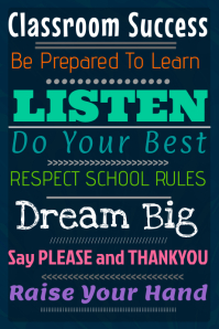 Classroom Success Poster Template