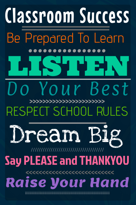 Classroom Success Poster Template | PosterMyWall