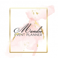 Classy Event Planner Gold Logo template