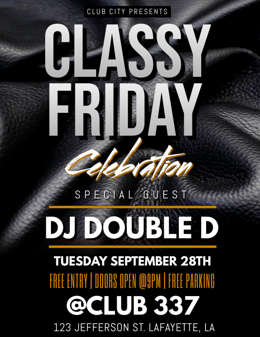 CLASSY FRIDAY CLUB TEMPLATE