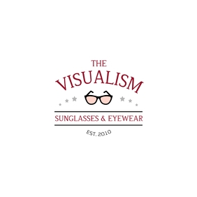Classy Maroon Sunglasses Logo template