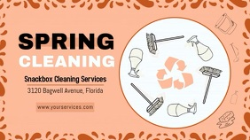 Clay Spring Cleaning Display Banner Ekran reklamowy (16:9) template