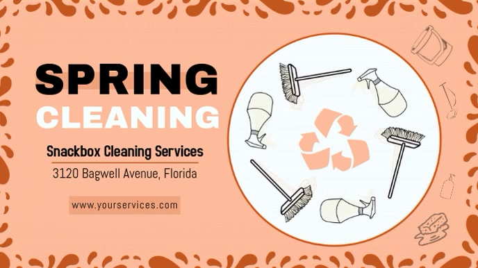 Clay Spring Cleaning Display Banner template