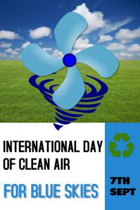 clean air/blue skies/environment/recycle Banner 4 × 6 Fuß template