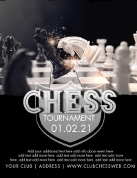 Clean Chess Tournament Flyer template