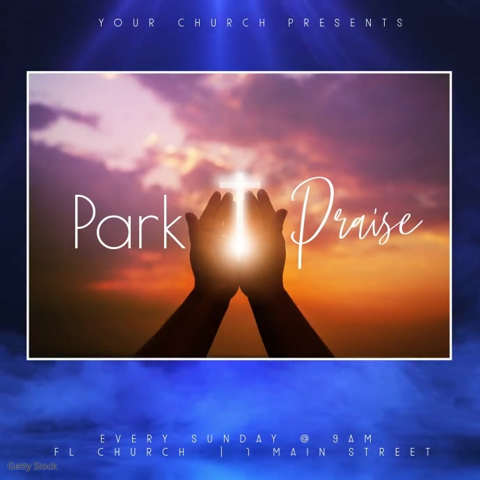 Clean Church Park & Praise Video Instagram 帖子 template