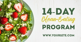 Clean eating dietary plan ad Facebook-Anzeige template