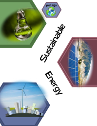 clean energy/sustainable/earth/planet/green Folder (US Letter) template