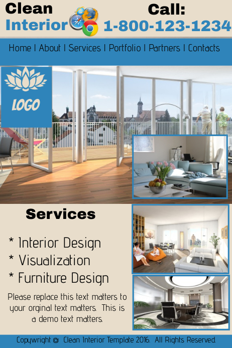Clean Interior Website Template