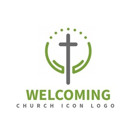 clean modern church logo Logotipo template