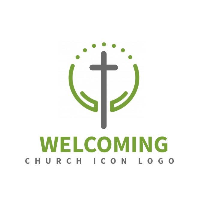 clean modern church logo template