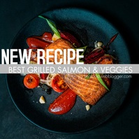 Clean Recipe Ad Social Media Post template