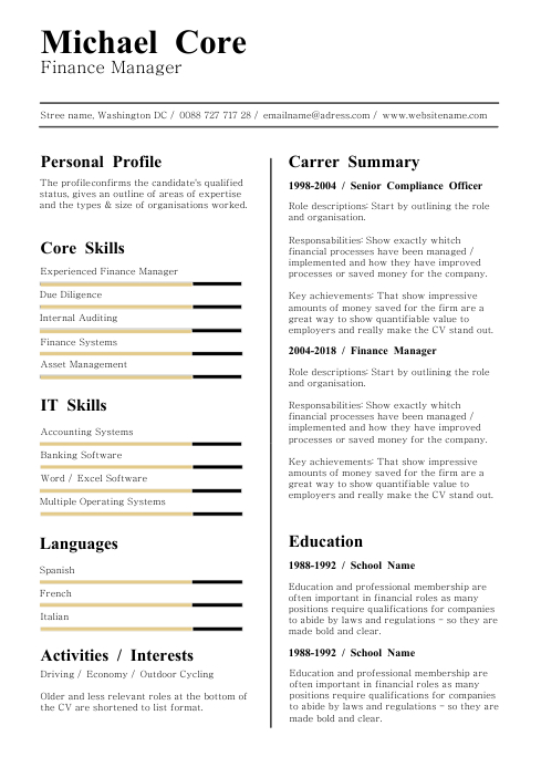 Clean Resume Cv Template Postermywall