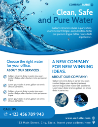 clean safe and pure water professional servic Volantino (US Letter) template