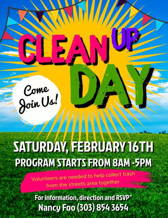 Clean Up Day Flyer