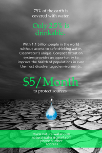 Clean Water Protection Campaign Poster