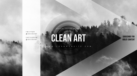Clean Youtube Channel Art Banner