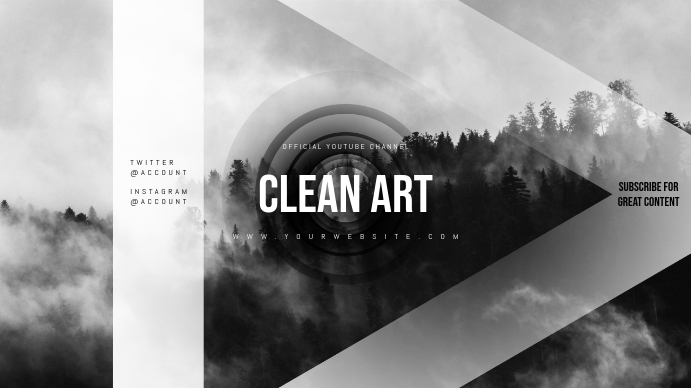 Clean Youtube Channel Art Banner Template | PosterMyWall