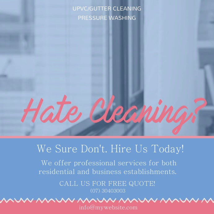 Cleaner Service Hiring Social Media Ad
