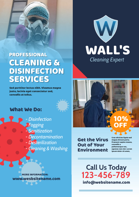 Cleaning & Disinfection Flyer A4 template