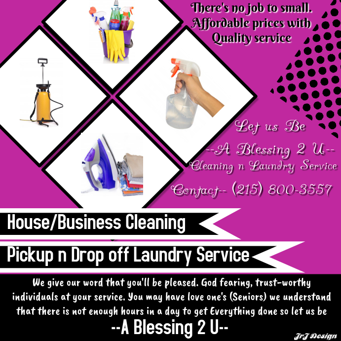 CLEANING & LAUNDRY SERVICE TEMPLATE