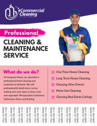 Cleaning & Maintenance Service Tear Off Flyer
