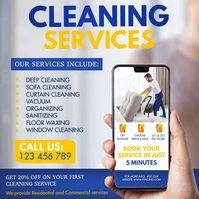 cleaning , spring cleaning, spring Instagram Post template