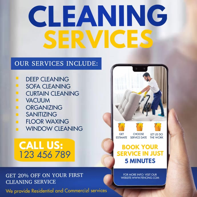 cleaning , spring cleaning, spring Wpis na Instagrama template