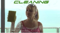 Cleaning ,Glass cleaning,Girl cleaning YouTube Thumbnail template