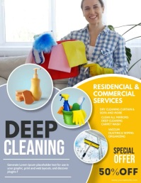 Cleaning ,spring cleaning,spring Flyer (Letter pang-US) template