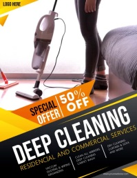Cleaning ,spring cleaning Flyer (US Letter) template