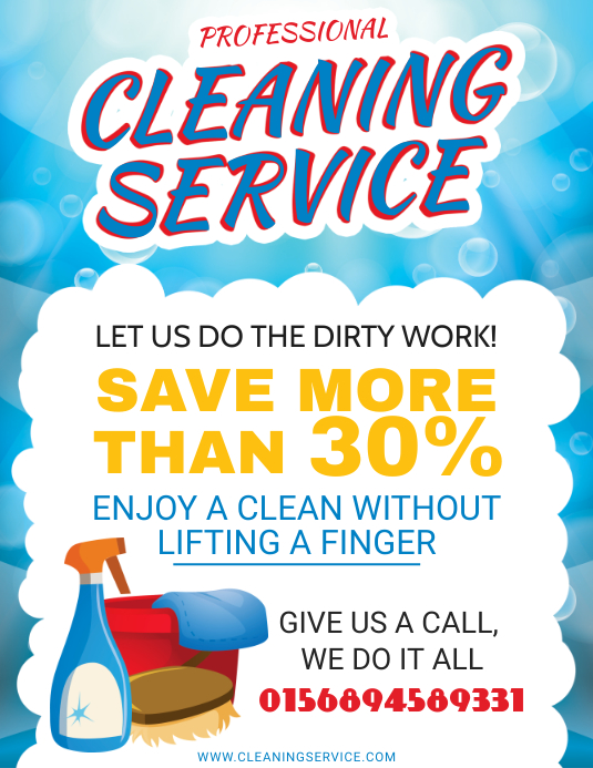 Cleaning and Laundary Service Flyer Design