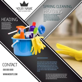 CLEANING BUSINESS COMPANY CORPORATE EVENT AD Square (1:1) template