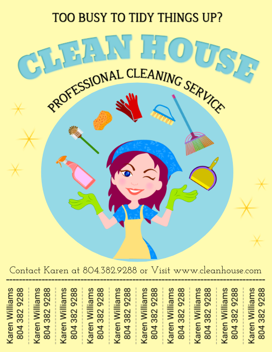 Cleaning Flyer (Letter pang-US) template