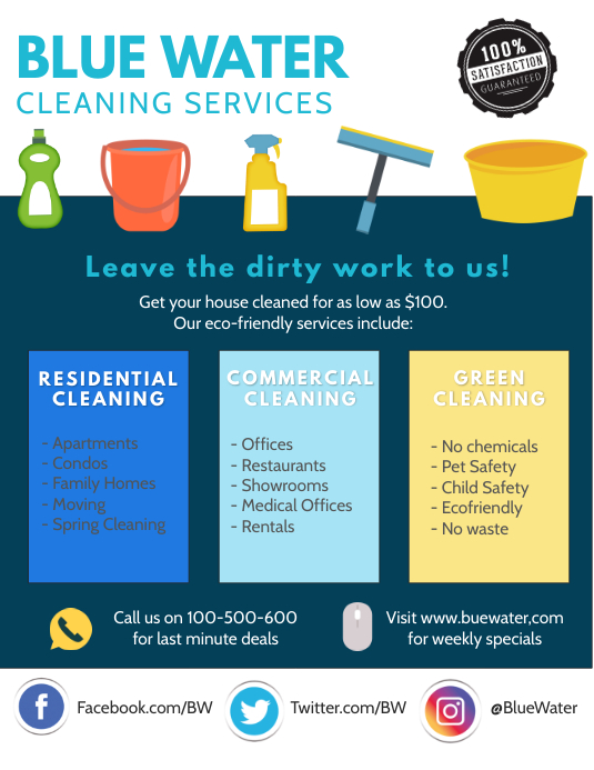 cleaning flyer informational template postermywall