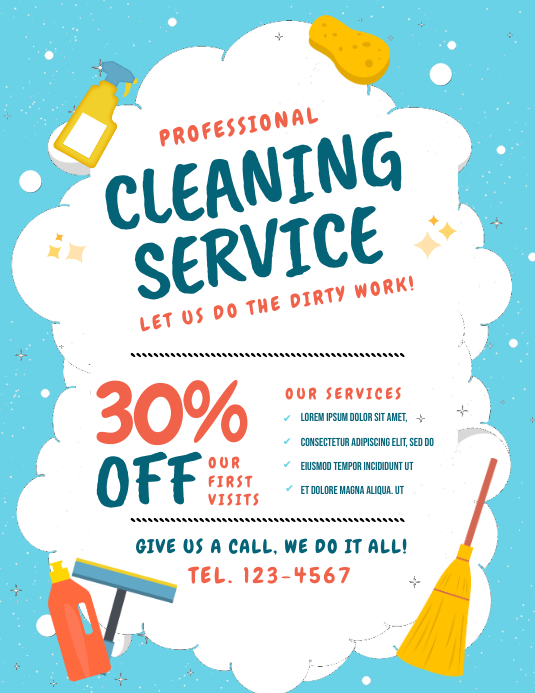 Cleaning Flyer Template Postermywall