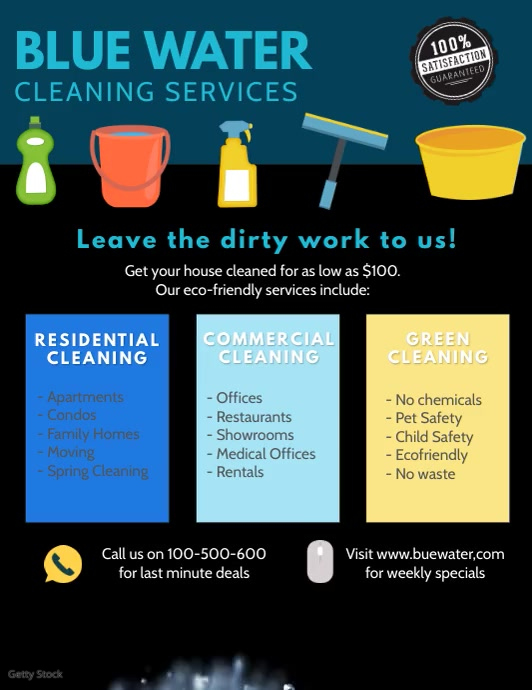 Cleaning flyer video template