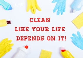 Cleaning Poster template