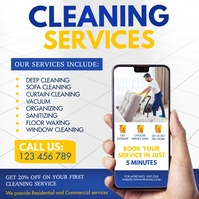 cleaning service, spring cleaning, spring Instagram Post template