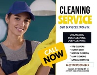 Cleaning service,spring cleaning Flyer (US Letter) template