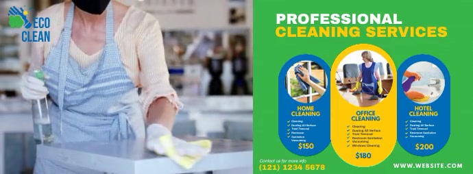 Cleaning Service Ad Facebook Omslag Foto template