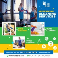 Cleaning Service Ad Instagram Post template