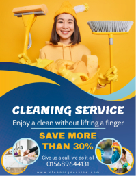 Cleaning Service and Washing Flyer Design