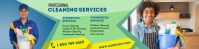 Cleaning service banner Spanduk 2' × 8' template