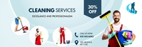 Cleaning service banner template